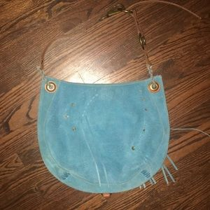 Blue Suede Large Lucky Brand Purse 🍀